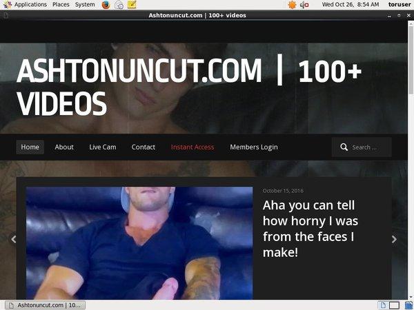 Ashtonuncut.com Join Anonymously