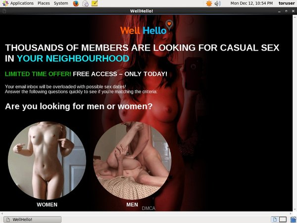 Wellhello.com Free Pass