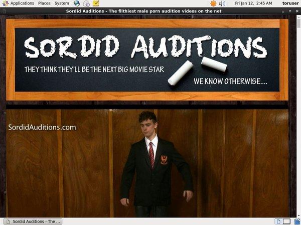 Free Sordid Auditions Login Account