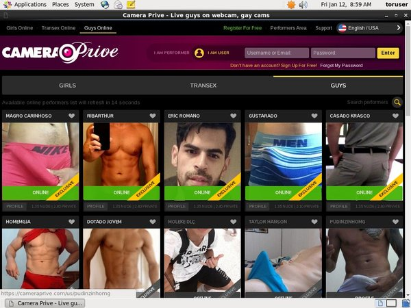 Account For Camera Prive Gay